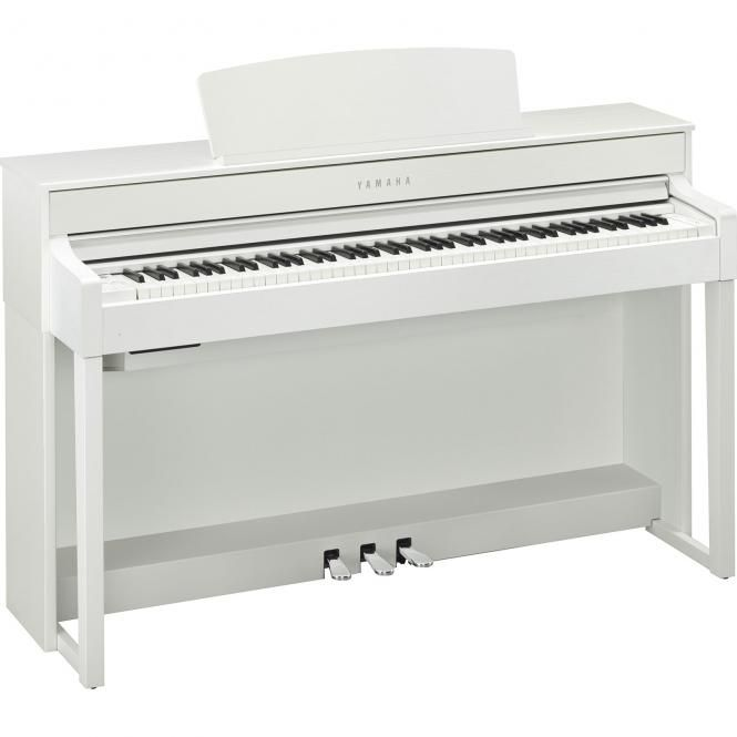 YAMAHA CLP575-WH PIANO MEUBLE 88 TOUCHES NWX + IV DE SYNTH BLANC