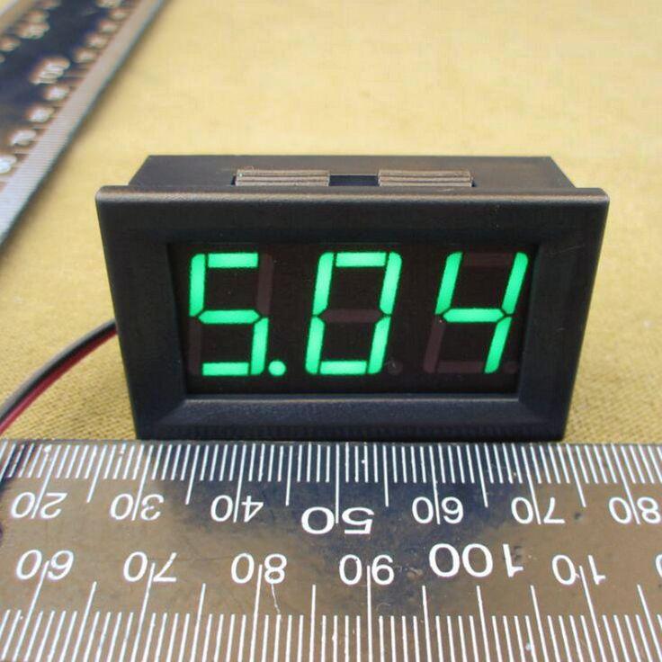 Hot DC 4.5-30 V HIJAU LED 3-Digital Display Voltmeter Panel Tegangan Motor DC 4.5 v-30 v voltmeter 6 v 9 v 12 v 24 v #0100
