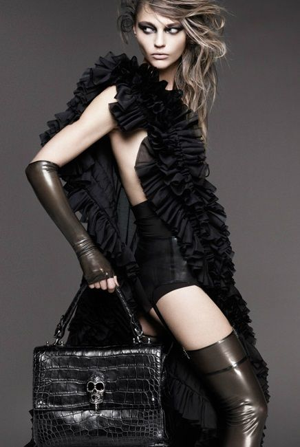 Sasha Pivovarova by Greg Kadel for Thomas Wylde Spring 2011 _