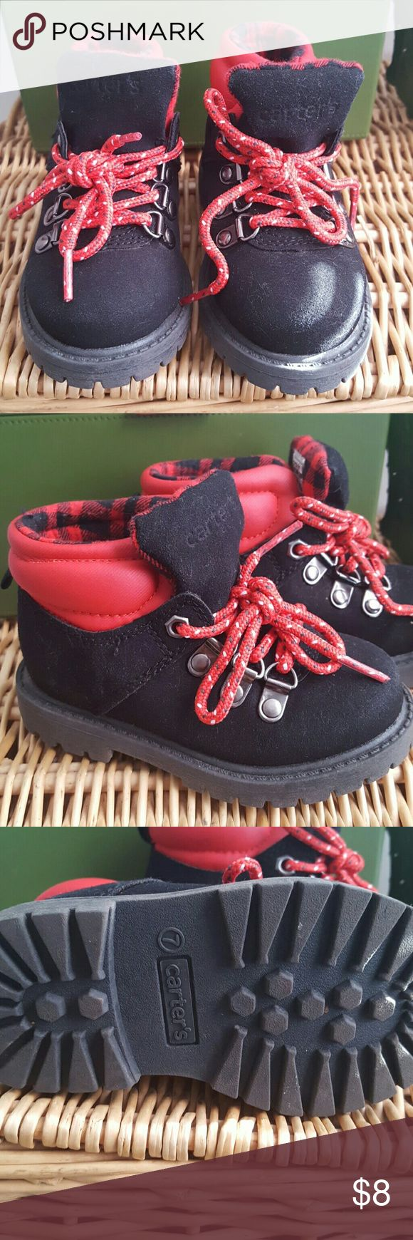 Carter's toddler winter boots Black and red winter boots for toddler size 7. Red leather and black suede. Like new condition. Carter's Shoes Boots