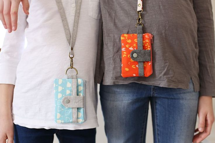 Summer Wallets with Lanyards - Noodlehead, a couple fun summer wallets for my girls.