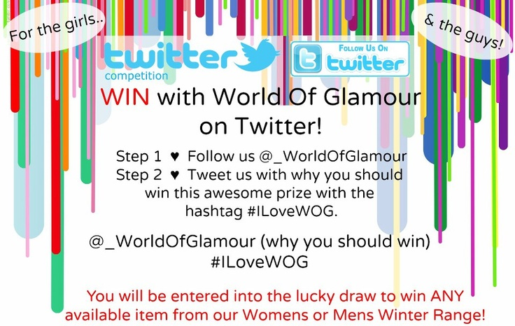 ♥ Competition Closes: 30 May ♥ Shop: www.worldofglamoursa.com