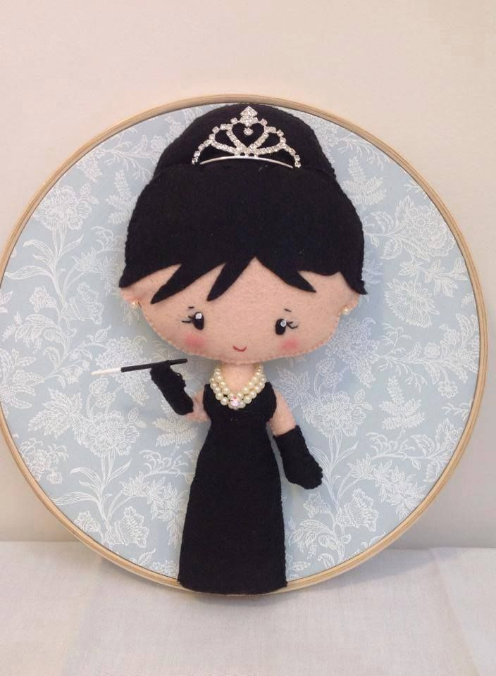 This is not an animal, but it's a felt Audrey. Breakfast at Tiffany's anyone?