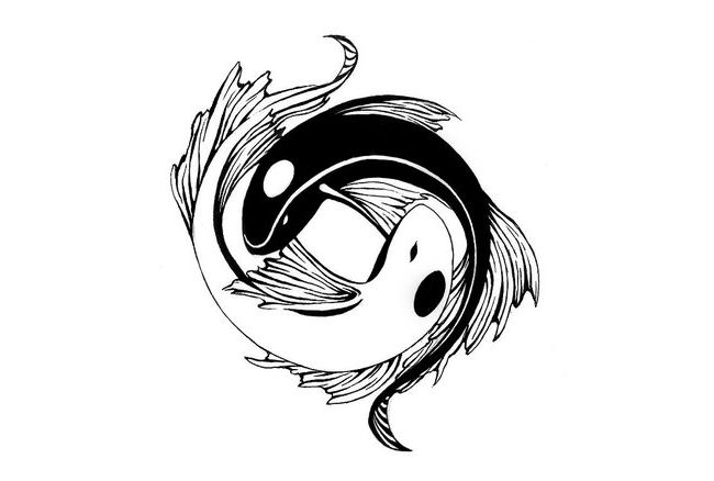 Ying yang tattoo from koi? Love it.