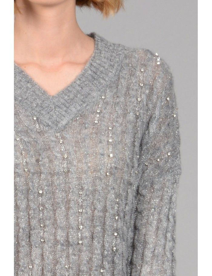 f813ea54abf Twist and strass sweater - Molly Bracken E-Shop - Collection Printemps Été  2018