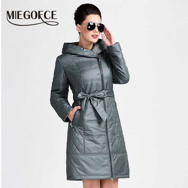 MIEGOFCE 2016 New Spring Collection Hooded Coat Keeps Warmth Women's Slim Outerwear Padded Jacket Thin Windbreaker EuropeStyle US $50.74 To Buy Or See Another Product Click On This Link  http://goo.gl/yekAoR