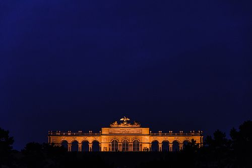 Il Gloriette di Vienna l'ultimo giorno dell'anno 2012.