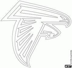 Logo for Atlanta Falcons, american football team from the NFC South division, Atlanta, Georgia coloring page