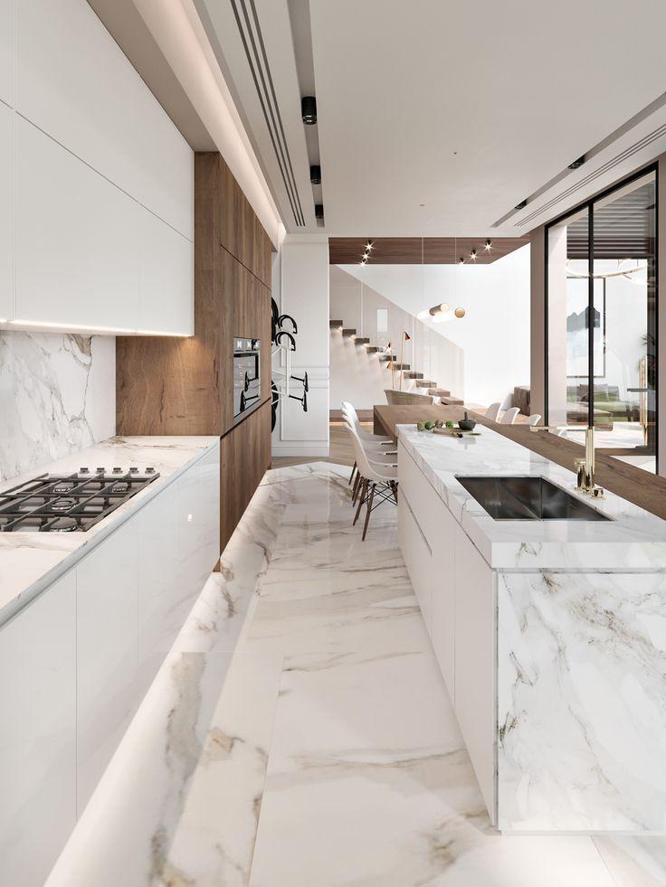kitchen #marble #küche #marmor  Küchen design, Luxusküchen
