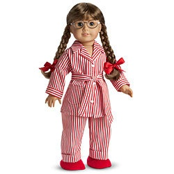 Molly American Girl Pajamas. Good thing she and I both have a pair of these since she's being retired. :(