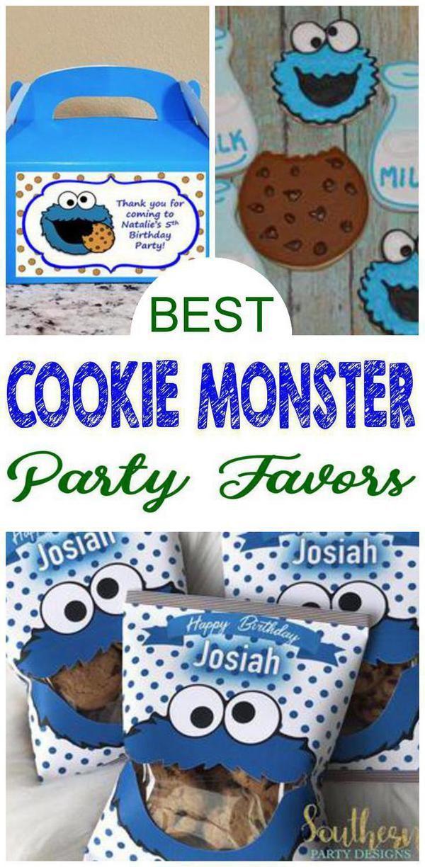 Incredible Party Favors Cookie Monster Party Favor Ideas For Kids That Are Easy And Fu Cookie Monster Birthday Party Cookie Monster Party Monster Party Favors