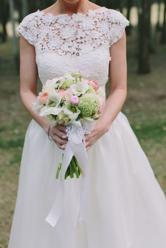 Lovely lace detail. Wedding dress by Hanna Couture. Image: Cavanagh Photography http://cavanaghphotography.com.au