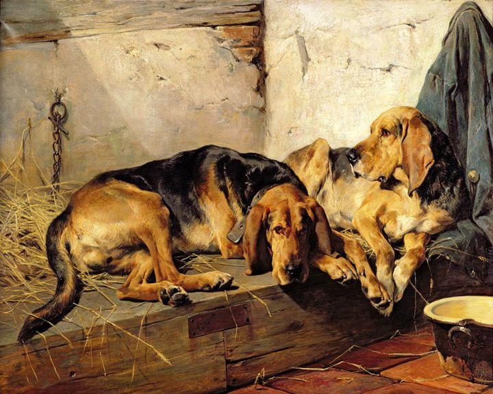 John Singer Sargent I Two Hounds