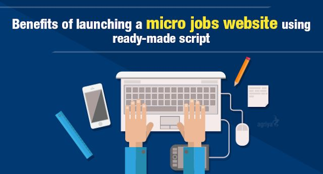 Benefits of launching a #microjobs website using ready-made script,   Check out: http://www.clonescripts.co/2015/10/Benefits-of-launching-a-micro-jobs-website-using-ready-made-script.html