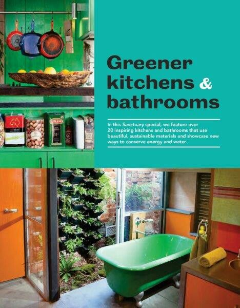 The latest issue #38 Sanctuary magazine special, features over 20 inspiring kitchens and bathrooms that use beautiful, sustainable materials and showcases new ways to conserve energy and water. We're excited to see our 'argyle' project heading up this feature! On the newstands now...