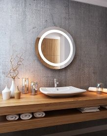 Lustro łazienkowe Jowisz LED z oświetleniem LED