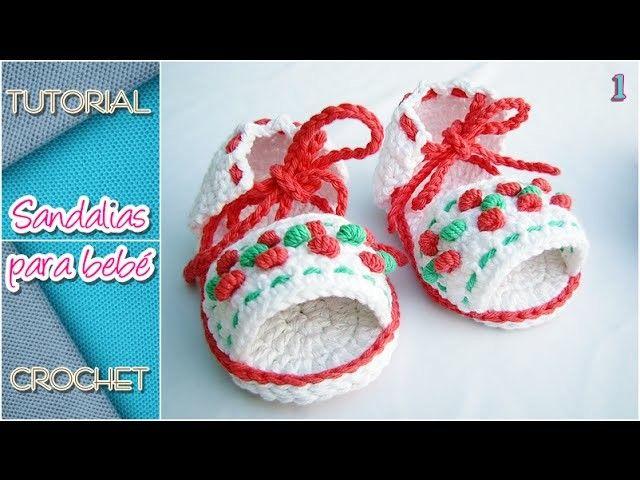 Cómo tejer sandalias a crochet para bebé, TODOS LOS TALLES (parte 1)