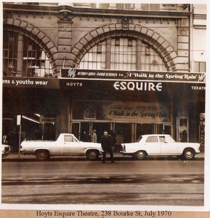 Hoyts Esquire Theatre, Bourke St, Melbourne, 1970. William Pitt, architect. Facade still exists behind Target cladding. Target, please bring it back to Melbourne!