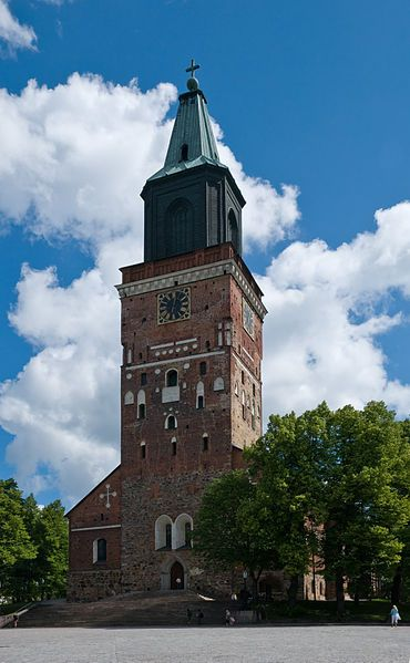 The cathedral in Turku, Finland, one of my stops.