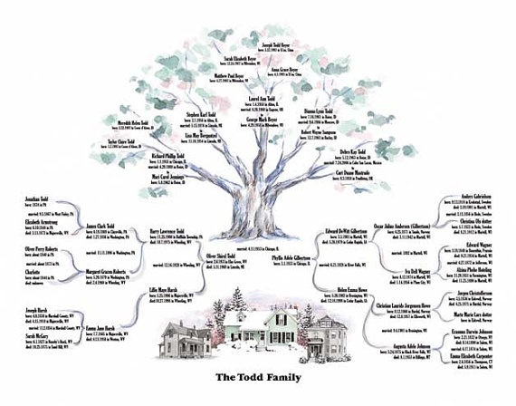genealogy templates for family trees - illustrate your ancestry genealogy trees by joannkenny on