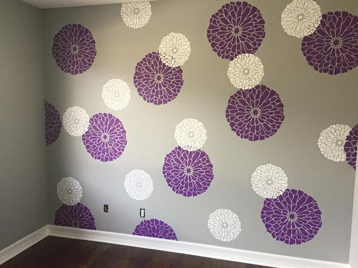 Wall Stencil Designs 102 best color me: purple images on pinterest | cutting edge