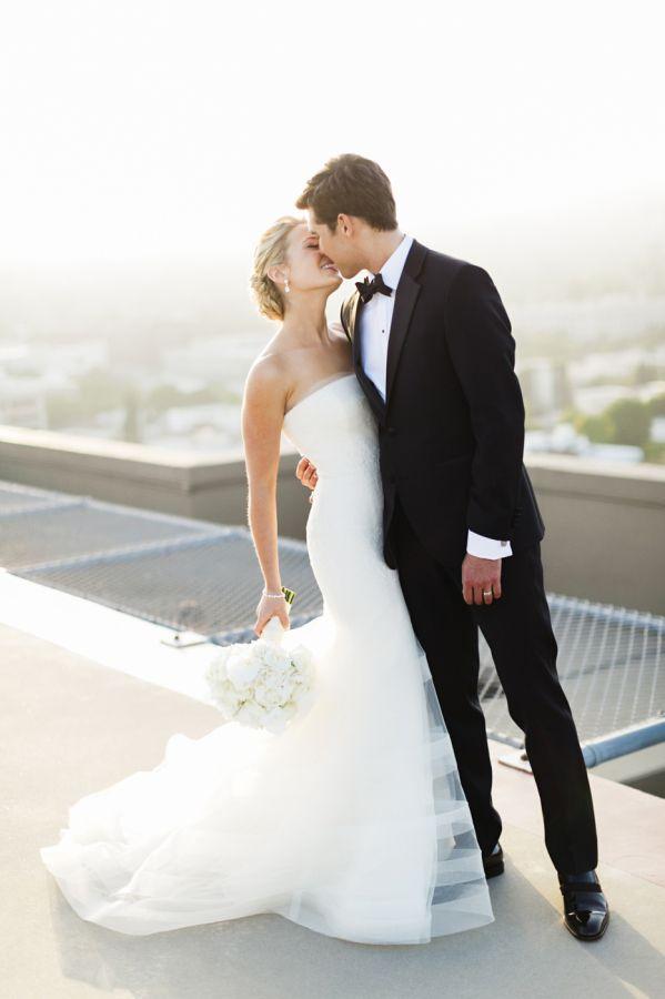 Beverly Hills bride + groom: http://www.stylemepretty.com/2015/12/31/glamorous-beverly-hills-ballroom-wedding/   Photography: Jana Williams - http://jana-williams.com/
