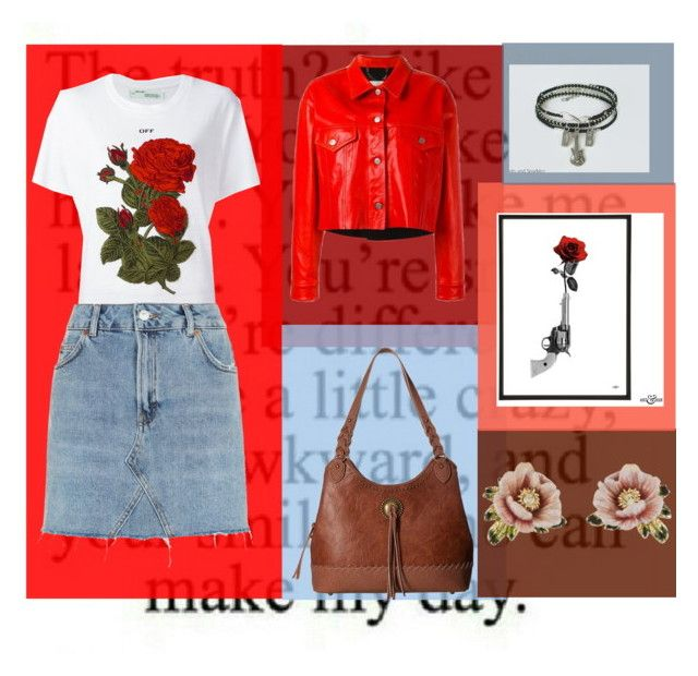 """""""Guns and kisses"""" by imcute1550 on Polyvore featuring Golden Goose, Off-White, Topshop, American West and Les Néréides"""