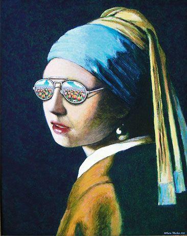 Girl With A Pearl Earring Criatividade Arte Arte Engracada