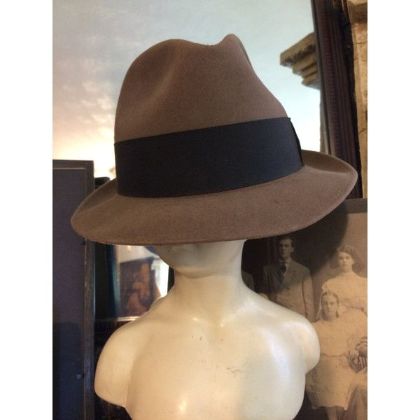Vintage 1950s Adam New York Fifth Avenue Mens Wool Brown Fedora Hat ($21) ❤ liked on Polyvore featuring men's fashion, men's accessories, men's hats, vintage mens hats, mens wool fedora, mens wool hats, vintage mens fedora hats and mens wool fedora hats