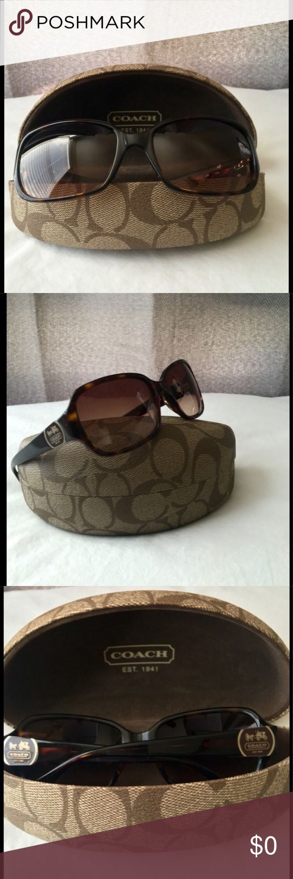 Coach Sunglasses Coach Turquoise Sunglasses (S2048) 58[]16[]125 Preowned tiny scratch inside of arm /very tiny visible sign of tiny scratch on left lens! Comes with authentic Coach case but not original to these particular Sunglasses!Price Firm! Coach Accessories Glasses