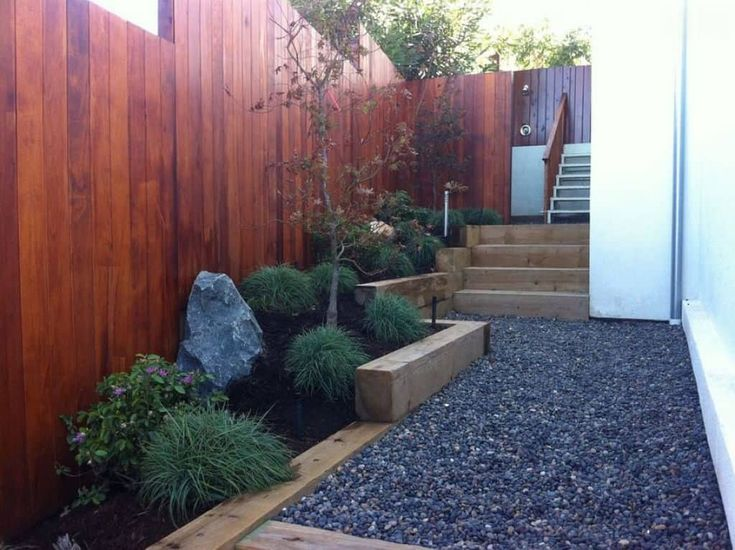Outside Landscaping With Railroad Ties
