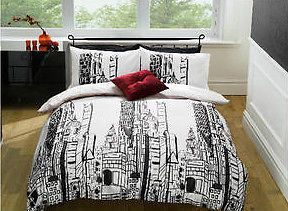 Bedroom Sets Nyc Buildings Double Duvet Bed Set Skyscrapers Skyline Bedding Usa With Design Inspiration
