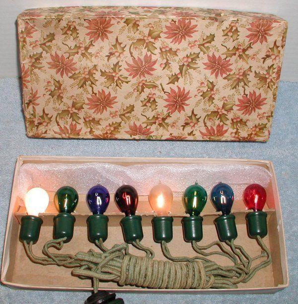 antique vintage dealites c 6 edison exhaust tip carbon christmas lights works - Antique Christmas Lights