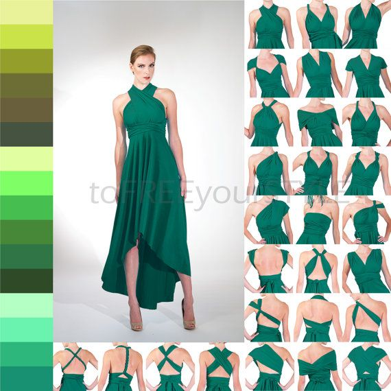 HIGH-LOW infinity dress in GREENS Free-Style par toFREEyourSTYLE