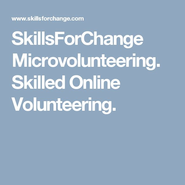 SkillsForChange Microvolunteering. Skilled Online Volunteering.