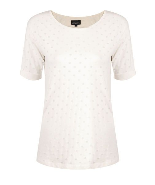 Flore Spot Tee, WINTER WHITE, hi-res