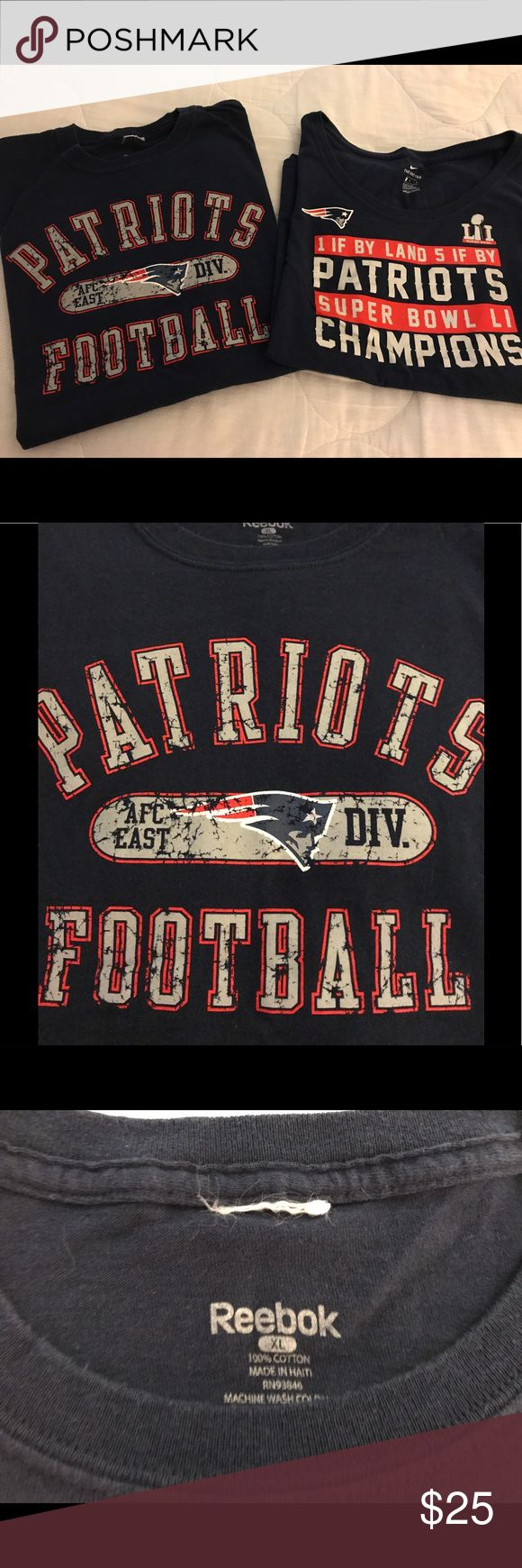 Bundled Ladies New England Patriots t-shirts Gently worn short sleeve t-shirts, one Reebok size xl, one Nike size L NFL Tops Tees - Short Sleeve