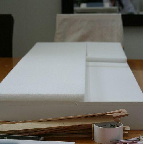 8 cornice board easy diy made from foam boards and for Foam board project ideas