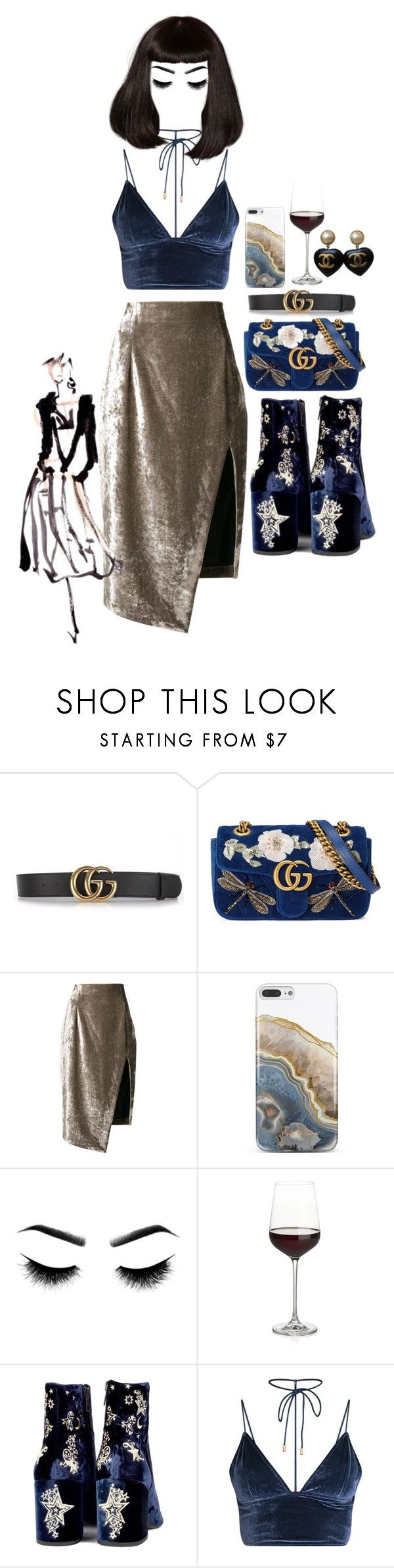 """""""4694"""" by dindonlarisa ❤ liked on Polyvore featuring Gucci, Off-White, Nanette Lepore, Crate and Barrel and Chanel"""