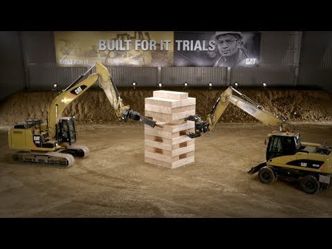 Watch the game in full here. | Watch The World�019s Biggest Game Of Jenga Being Played By Caterpillar Machines