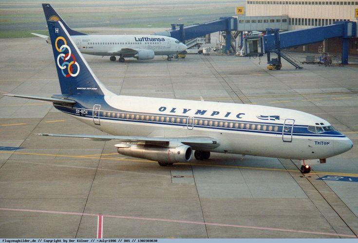 Olympic Airways Boeing 737-284 (Triton - Τρίτωνας) [SX-BCH] at Dusseldorf airport in 1996