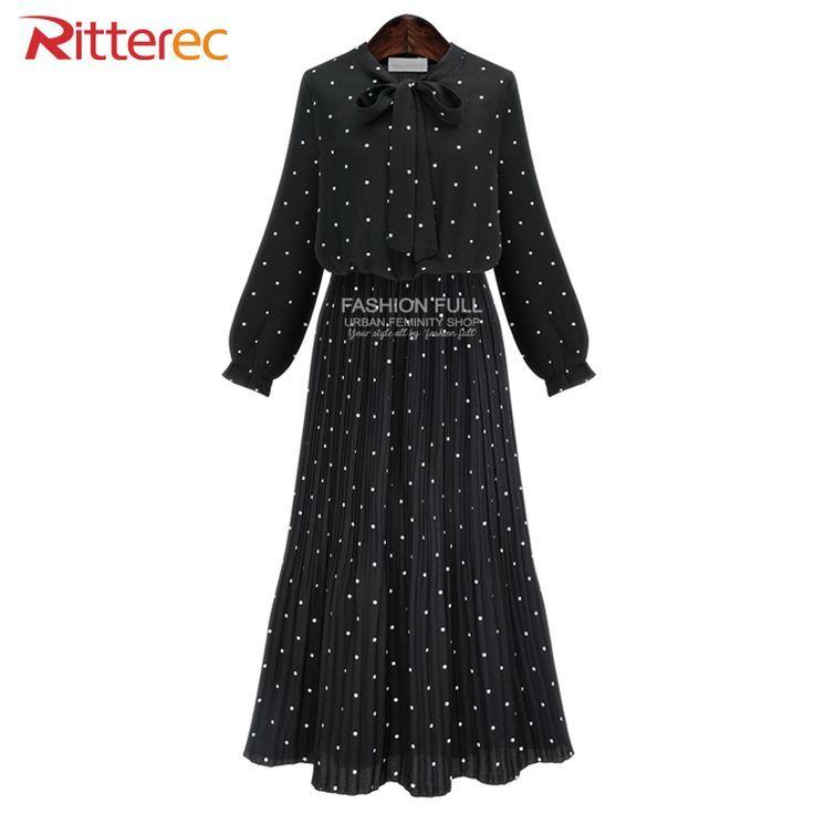 Awesome Maxi Dresses for Women 2017 Autumn Polka Dot Dress Women Plus Size Casual Long Dress Chiffon Bodycon Bo... Check more at http://24store.tk/fashion/maxi-dresses-for-women-2017-autumn-polka-dot-dress-women-plus-size-casual-long-dress-chiffon-bodycon-bo/