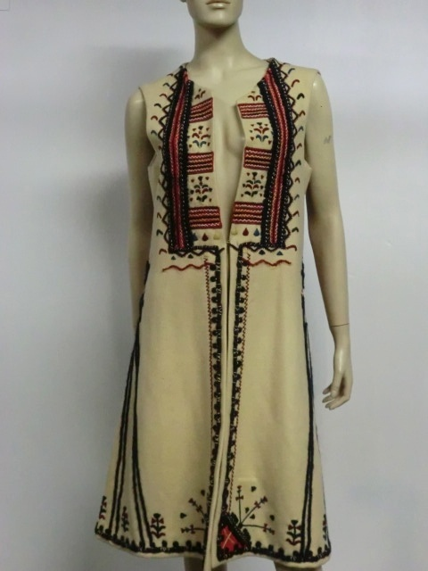 vintage Romanian hand embroidered dress