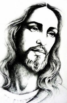 "http://www.stars-portraits.com/img/portraits/stars/j/jesus-christ/jesus-christ-by-mariebouldingue.jpg ""Jesus Christ"" by Marie Bouldingue The beauty of God in your inbox daily at http://www.godismyguide.com"
