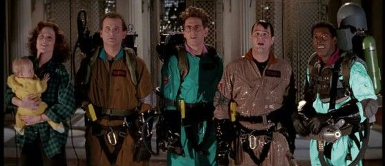 The Ghostbusters in Real Ghostbusters gear