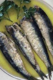 Small fish marinated in olive oil