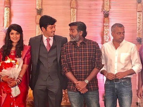Actor Ashwin Kakumanu and Sonali Wedding Reception Stills | AshwinWedsSonali - YouTube