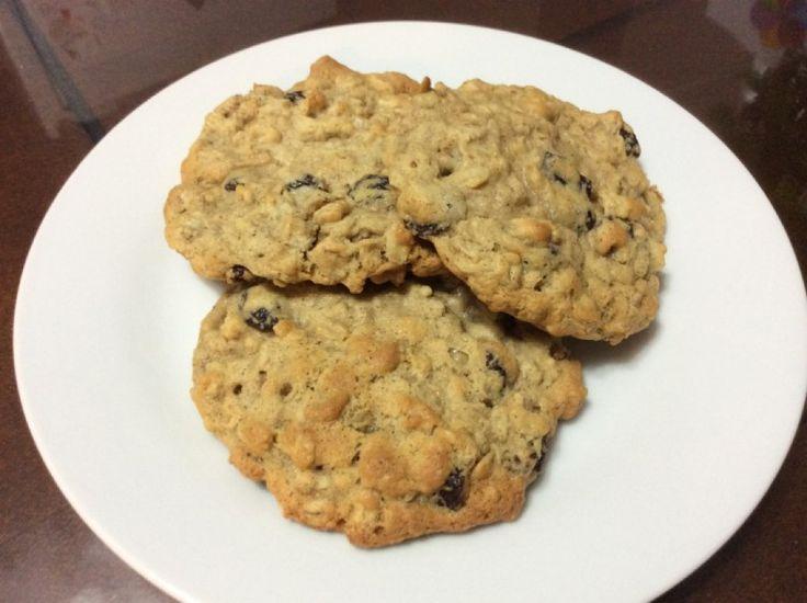 Biscuits mous à l'avoine et raisins