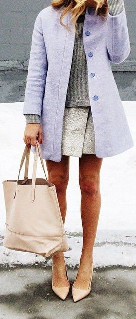 #street #style / lilac coat + knit