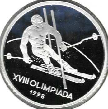 100 lei Nagano Olympic Winter Games 1998 - ski - slalom discipline